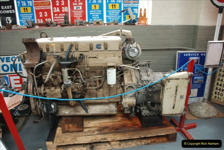 2019-06-02 MBF Meeting on the IOW. (161) The IOW Ryde Bus Museum bus engines display. 162