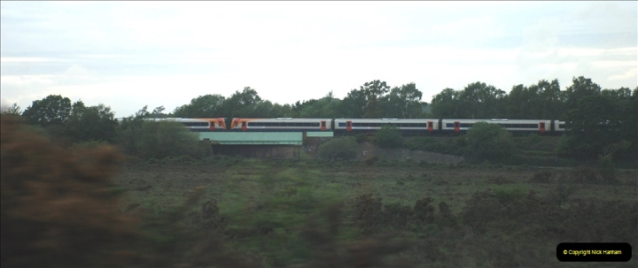 2019-06-02 MBF Meeting on the IOW. (258) The Lymington branch joins the main Waterloo to Weymouth line just West of Brockenhurst.259