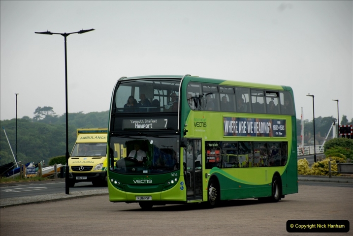 2019-06-02 MBF Meeting on the IOW. (46) Three different buses to get to the Ryde Bus Museun for the meeting. 047