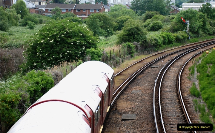 2019-06-02 MBF Meeting on the IOW. (63) Island line trains pass the Museum. 064