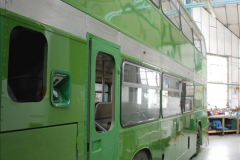 2019-06-02 MBF Meeting on the IOW. (134) The IOW Ryde Bus Museum workshop.  135
