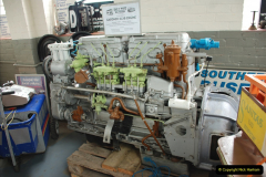 2019-06-02 MBF Meeting on the IOW. (162) The IOW Ryde Bus Museum bus engines display. 163