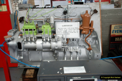 2019-06-02 MBF Meeting on the IOW. (163) The IOW Ryde Bus Museum bus engines display. 164