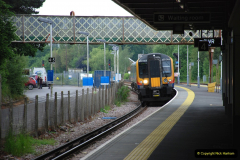 2019-06-02 MBF Meeting on the IOW. (20) Brockenhurst. The Lymington branch train. 021