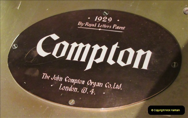 2019 March 16 Bournemouth Pavilion Theatre 90 Years. (1) Behind the scenes tour. The Compton Organ. 01