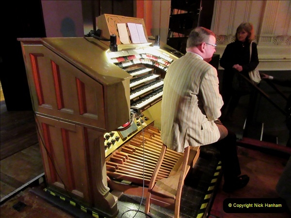 2019 March 16 Bournemouth Pavilion Theatre 90 Years. (13) Behind the scenes tour. The Compton Organ. 13