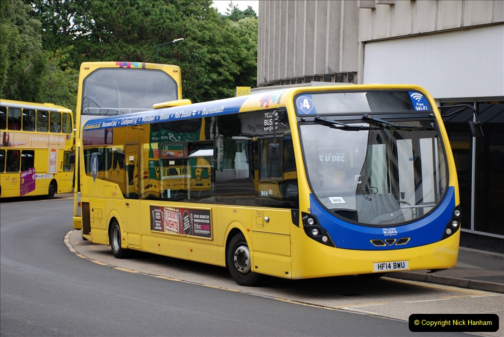 2019-07-18 More Yellow Buses Number 2 (1) Bournemouth Square 1230 to 1330 and journey home. 001