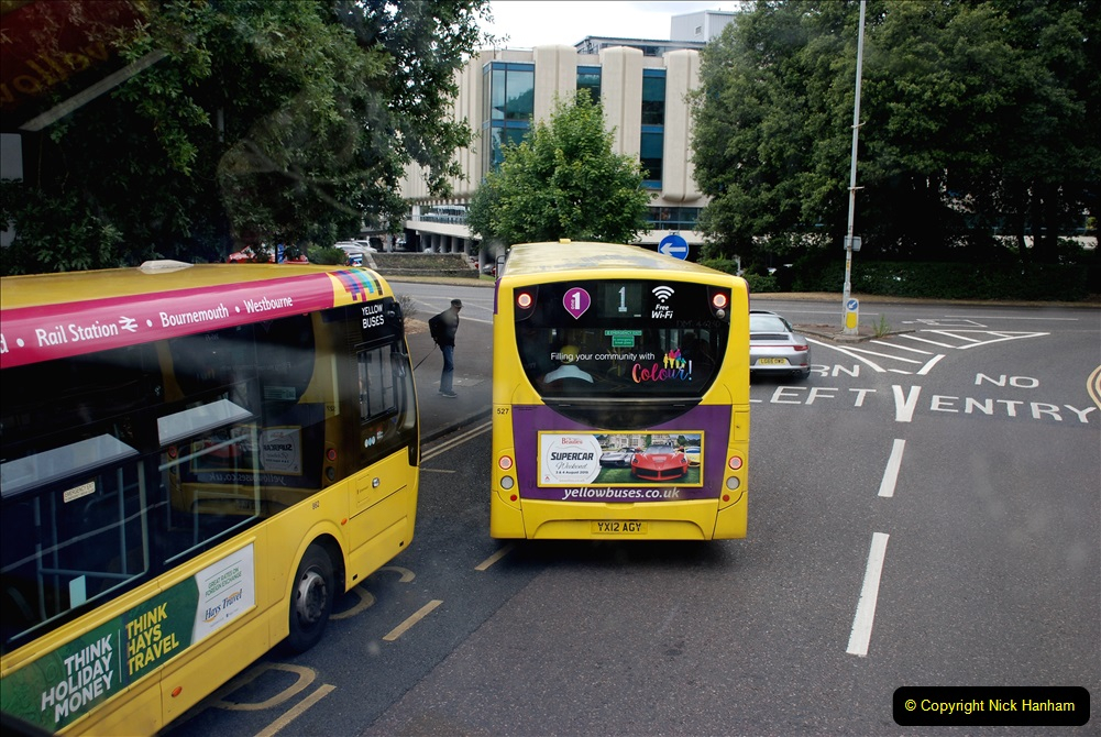 2019-07-18 More Yellow Buses Number 2 (111) Bournemouth Square 1230 to 1330 and journey home. 111