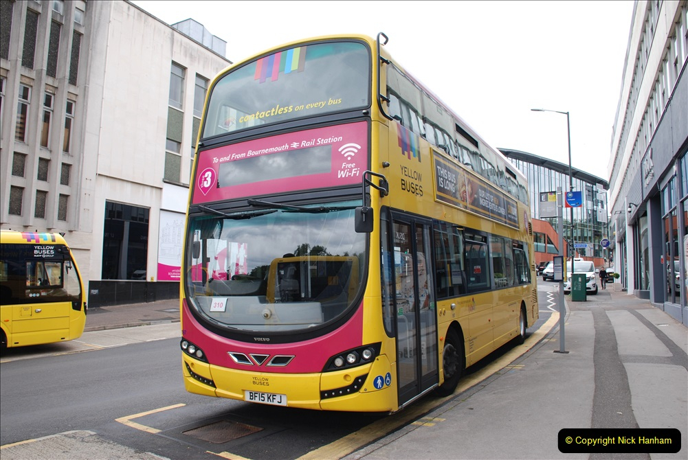 2019-07-18 More Yellow Buses Number 2 (2) Bournemouth Square 1230 to 1330 and journey home. 002