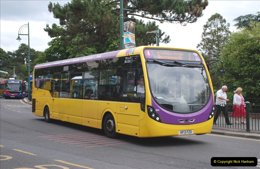 2019-07-18 More Yellow Buses Number 2 (28) Bournemouth Square 1230 to 1330 and journey home. 028