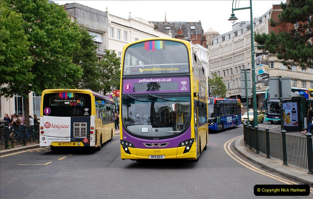 2019-07-18 More Yellow Buses Number 2 (51) Bournemouth Square 1230 to 1330 and journey home. 051