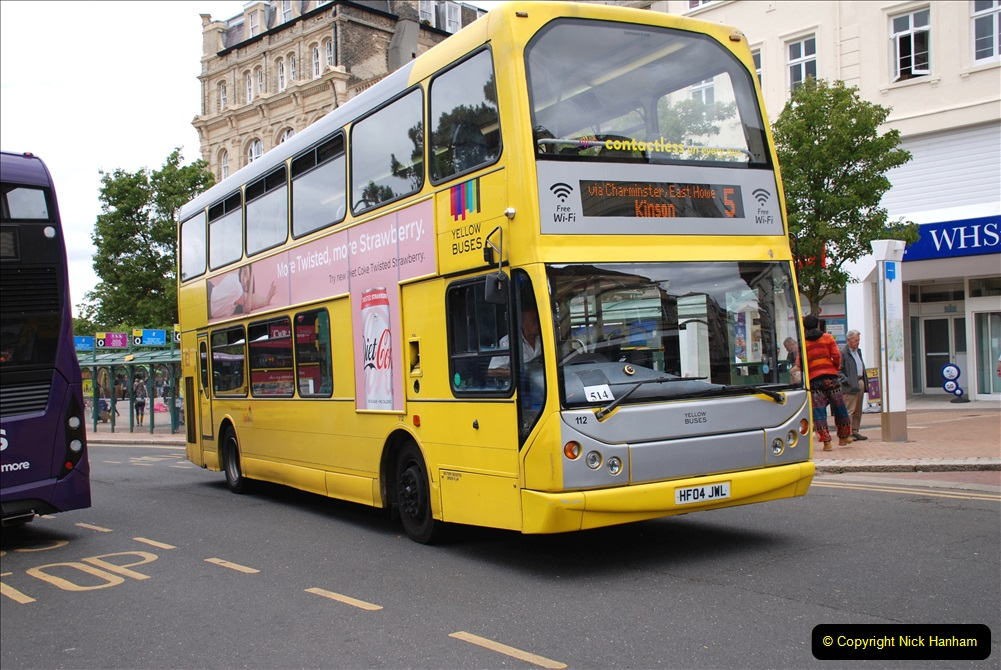2019-07-18 More Yellow Buses Number 2 (56) Bournemouth Square 1230 to 1330 and journey home. 056