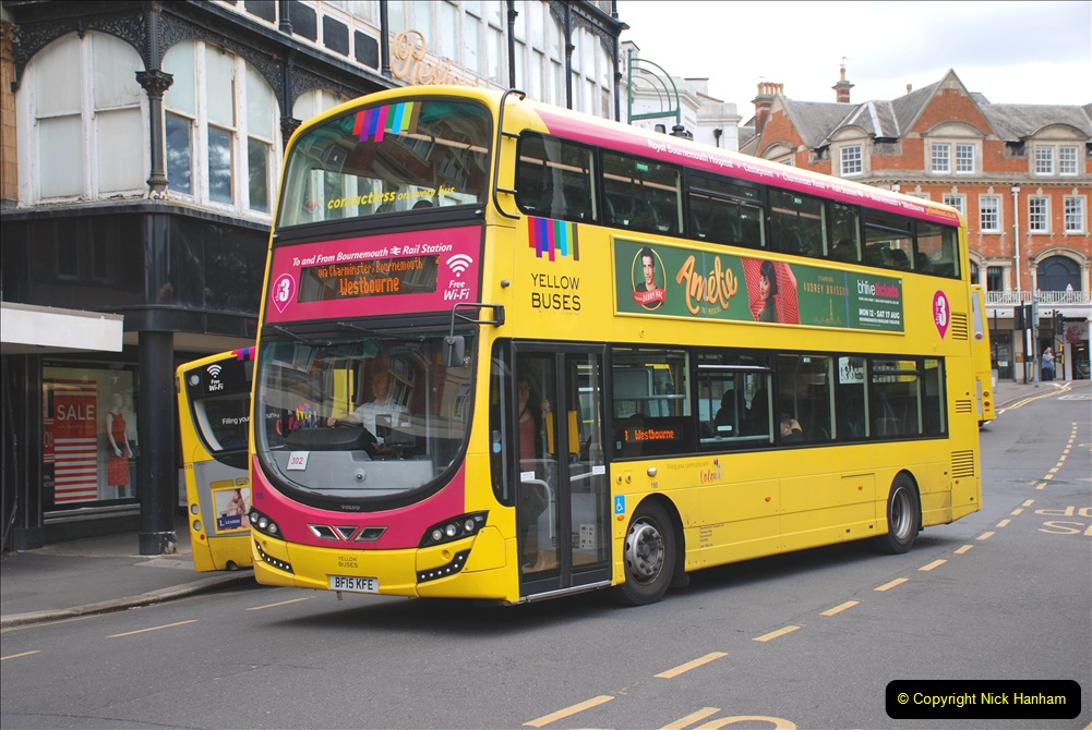 2019-07-18 More Yellow Buses Number 2 (66) Bournemouth Square 1230 to 1330 and journey home. 066