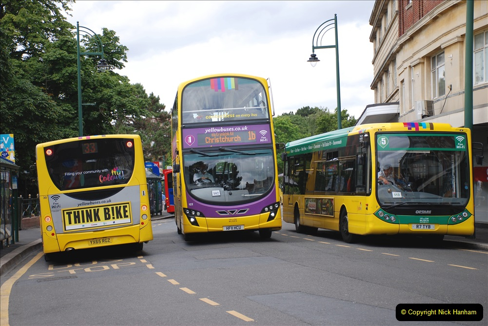 2019-07-18 More Yellow Buses Number 2 (85) Bournemouth Square 1230 to 1330 and journey home. 085