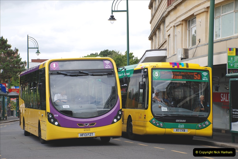 2019-07-18 More Yellow Buses Number 2 (86) Bournemouth Square 1230 to 1330 and journey home. 086