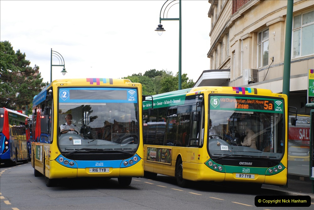 2019-07-18 More Yellow Buses Number 2 (90) Bournemouth Square 1230 to 1330 and journey home. 090