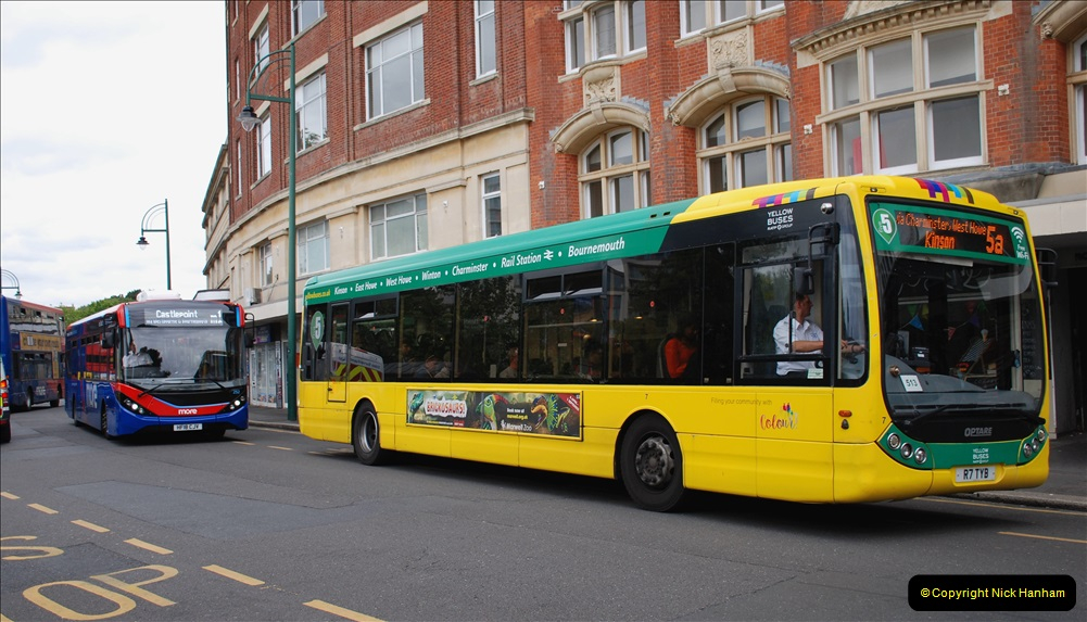 2019-07-18 More Yellow Buses Number 2 (92) Bournemouth Square 1230 to 1330 and journey home. 092