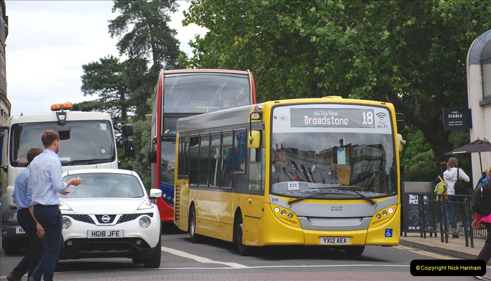 2019-07-18 More Yellow Buses Number 2 (98) Bournemouth Square 1230 to 1330 and journey home. 098