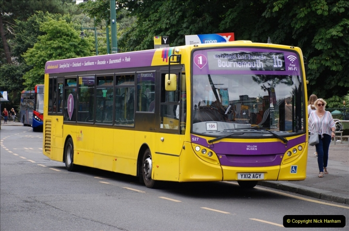2019-07-18 More Yellow Buses Number 2 (12) Bournemouth Square 1230 to 1330 and journey home. 012