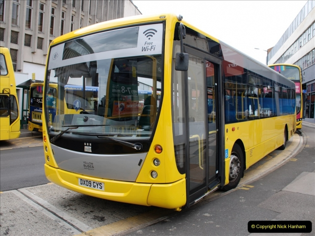 2019-07-18 More Yellow Buses Number 2 (3) Bournemouth Square 1230 to 1330 and journey home. 003