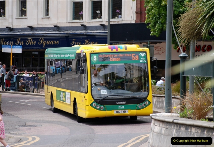 2019-07-18 More Yellow Buses Number 2 (37) Bournemouth Square 1230 to 1330 and journey home. 037