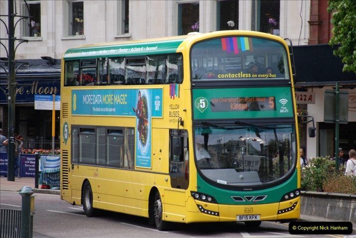 2019-07-18 More Yellow Buses Number 2 (38) Bournemouth Square 1230 to 1330 and journey home. 038