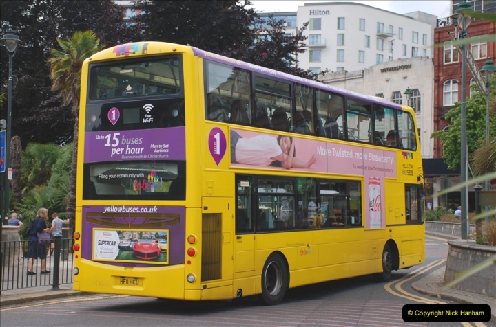 2019-07-18 More Yellow Buses Number 2 (41) Bournemouth Square 1230 to 1330 and journey home. 041