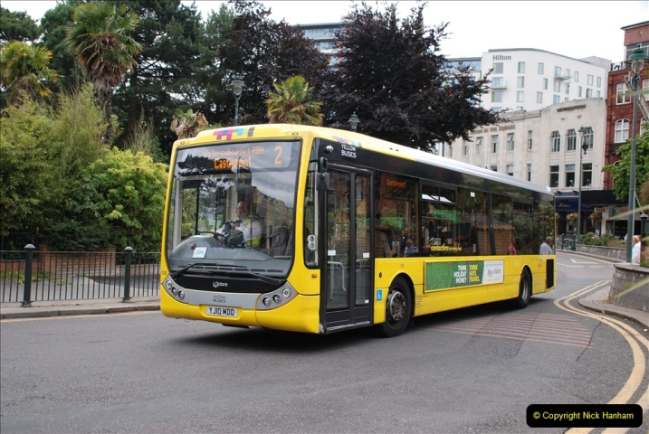 2019-07-18 More Yellow Buses Number 2 (45) Bournemouth Square 1230 to 1330 and journey home. 045
