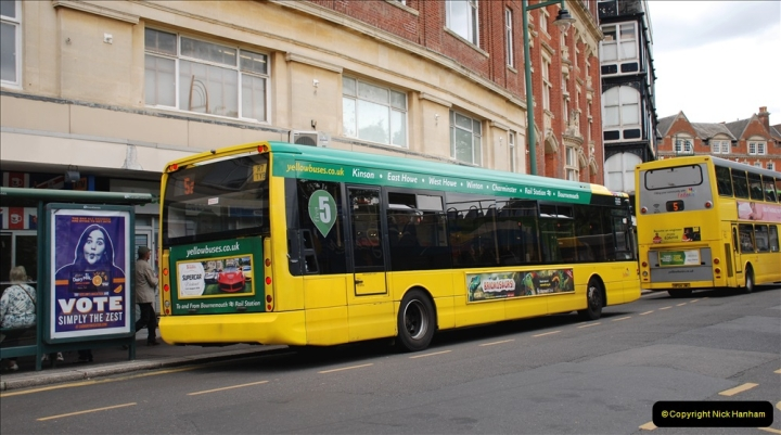 2019-07-18 More Yellow Buses Number 2 (63) Bournemouth Square 1230 to 1330 and journey home. 063