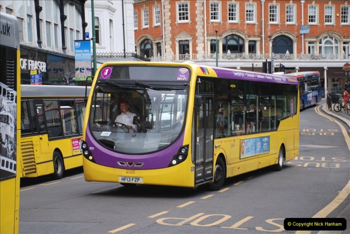 2019-07-18 More Yellow Buses Number 2 (74) Bournemouth Square 1230 to 1330 and journey home. 074