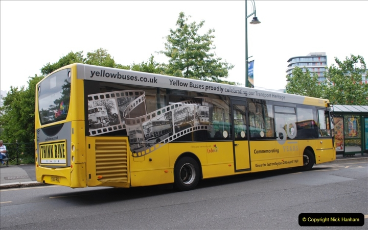 2019-07-18 More Yellow Buses Number 2 (78) Bournemouth Square 1230 to 1330 and journey home. 078