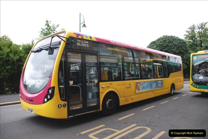 2019-07-18 More Yellow Buses Number 2 (80) Bournemouth Square 1230 to 1330 and journey home. 080