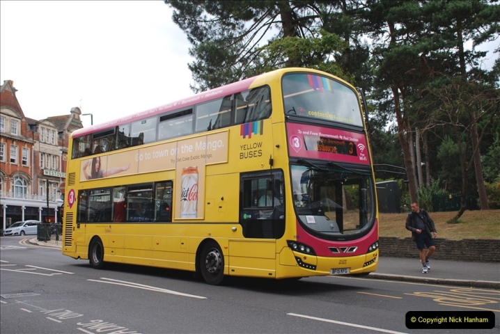2019-07-18 More Yellow Buses Number 2 (95) Bournemouth Square 1230 to 1330 and journey home. 095