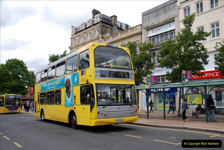 2019-07-18 More Yellow Buses Number 2 (99) Bournemouth Square 1230 to 1330 and journey home. 099