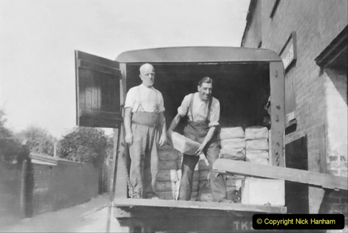 My Late Stepfather Jocelyn Hanham. (16) Unloading at a Poole factory. 1929. 016