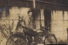 My Late Stepfather Jocelyn Hanham. (1) Zenith Motorcycle with pillion passenger. 001