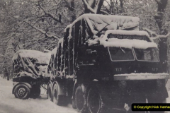 My Late Stepfather Jocelyn Hanham. (38) Winter in the New Forest at Lyndhurst. 1955. 038
