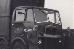 My Late Stepfather Jocelyn Hanham. (42) A 16 year old stepson at Gillingham, Dorset with mate Percy. 1958. 042