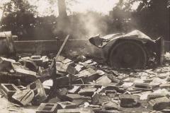 My late Stepfather Jocelyn Hanham. (52)  Photographs of accidents he took on his travels. Fire near Basingstoke. 1928. 052