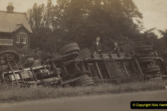 My late Stepfather Jocelyn Hanham. (55)  Photographs of accidents he took on his travels. Southern Roadways, Hartley Flats. 1928. 055