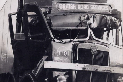 My late Stepfather Jocelyn Hanham. (58)  Photographs of accidents he took on his travels. Waterden Road, London Depot. 1950. 058