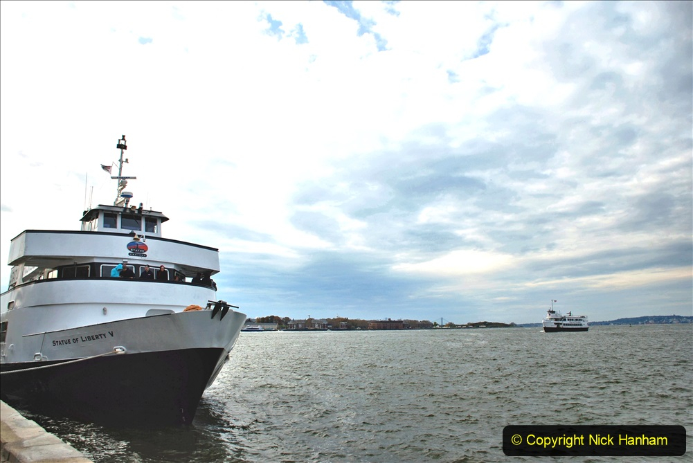 2019-11-10 New York. (107) Boarding our boat for Liberty Island. 107