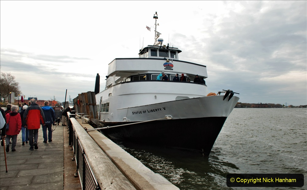 2019-11-10 New York. (108) Boarding our boat for Liberty Island. 108