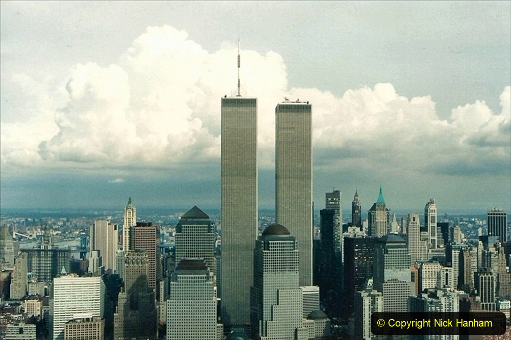 2019-11-10 New York. (178) The Worlad Trade Centre in 1990 from our NY helicopter flight.178