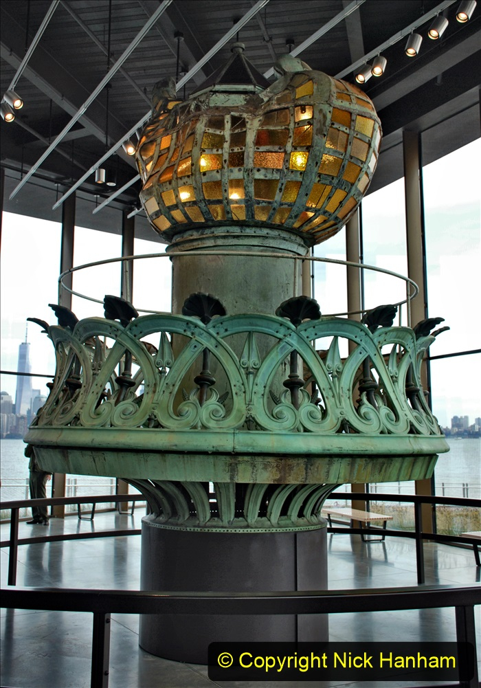 2019-11-10 New York. (202) The Statue of Liberty Museum. An original torch.202