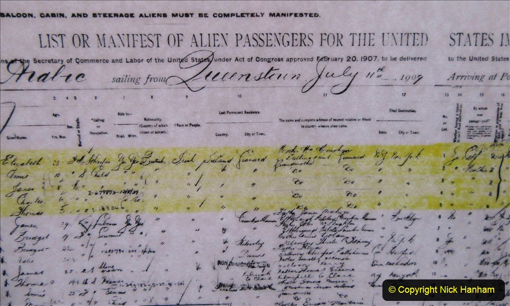 2019-11-10 New York. (232) Ellis Island and the imigrants. Imigrant lists. 231