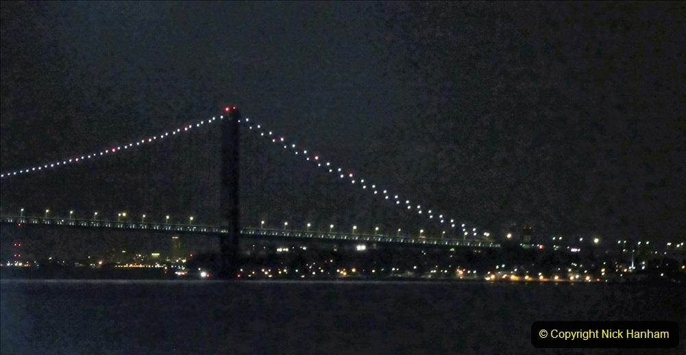 2019-11-10 New York. (3) New York arrival on Queen Mary. The Verrazzano-Narrows Bridge. 003