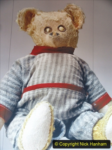 2019-11-10 New York. (257) Ellis Island and the imigrants. A bear that became Teddy after Theodore Roosevelt. 257