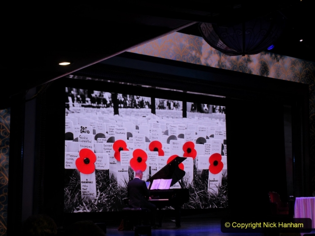 2019-11-10 New York. (431) Rememberance day evening service for Monday 11 November on Queen Mary. 431