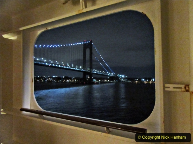 2019-11-10 New York. (6) New York arrival on Queen Mary. The Verrazzano-Narrows Bridge. 006